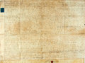 "Books:World History, Manuscript Land Indenture. November 5, 1803. Measures 34.5"" x 26.5"". Folded, with creasing. A bit soiled. Very good. From ..."