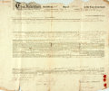 Books:World History, Land Indenture. September 29, 1836. Typescript, with manuscript notations. Folded, with creases (some of which have separati...