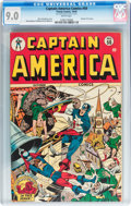 Golden Age (1938-1955):Superhero, Captain America Comics #50 (Timely, 1945) CGC VF/NM 9.0 White pages....