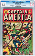Golden Age (1938-1955):Superhero, Captain America Comics #47 (Timely, 1945) CGC VF+ 8.5 Cream to off-white pages....
