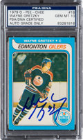 Autographs:Sports Cards, Signed 1979 O-Pee-Chee Wayne Gretzky #18 PSA/DNA Gem Mint 10. ...