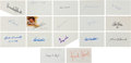 Autographs:Index Cards, 1920's-80's Baseball Stars Signed Index Cards Lot of 511....