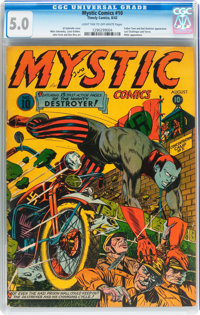 Mystic Comics #10 (Timely, 1942) CGC VG/FN 5.0 Light tan to off-white pages