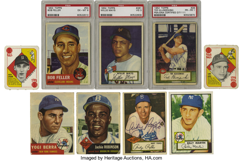 1951 1953 Topps Baseball Near Complete And Partial Sets With Lot