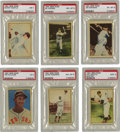 Baseball Cards:Sets, 1952 Berk Ross Baseball Complete Set (72). Seventy-two unnumberedcards make up the set, including two of Phil Rizzuto. Hig...