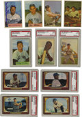 Baseball Cards:Sets, 1953-1955 Bowman Baseball Near Complete and Partial Sets withAutographs. Group includes a 1953 Bowman partial set (96/160)....(Total: 3 sets)