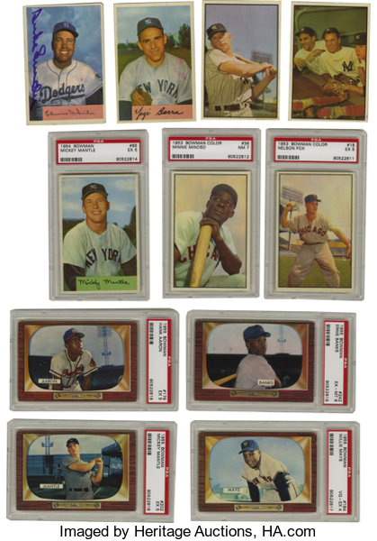 1953 1955 Bowman Baseball Near Complete And Partial Sets Lot