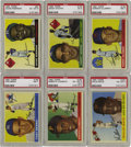 Baseball Cards:Sets, 1955 Topps Baseball Complete Set (206). This was Topps' firsthorizontally oriented baseball issue. The format presented dua...
