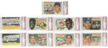 Baseball Cards:Sets, 1956 Topps Baseball High-Grade Near Complete Set (334/340) with Autographs. This high-grade partial set represents the secon...