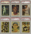 "Baseball Cards:Sets, 1957 Topps Baseball Complete Set (411). In 1957, Topps reduced thesize of its cards to the now-familiar 2-1/2"" x 3-1/2"". I..."