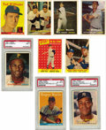 Baseball Cards:Sets, 1957-1958 Topps Baseball Near Complete Sets with Autographs. Includes a 1957 Topps near complete set (401/411). Highlights ... (Total: 2 sets)