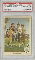 Baseball Cards:Singles (1950-1959), 1959 Fleer Ted Williams The Early Years #1 PSA NM-MT 8. The secondmost valuable card in the set is the first one, which we...