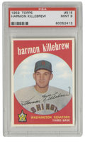 "Baseball Cards:Singles (1950-1959), 1959 Topps Harmon Killebrew #515 PSA Mint 9. This absolutely""Killer"" card dates from the season that Harmon made his prese..."