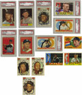 Baseball Cards:Sets, 1960-1961 Topps Baseball Near Complete Sets with Autographs. Includes a 1960 Topps near complete set (566/572). Highlights ... (Total: 2 sets)