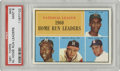Baseball Cards:Singles (1960-1969), 1961 Topps NL Home Run Leaders #43 PSA Mint 9. Three Hall of Famersfor the price of one on this absolute blazer of a card ...