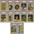 Baseball Cards:Sets, 1961 Topps Baseball Complete High-Grade Set (587). A total of 70cards have been graded by PSA, breaking down as follows: ...