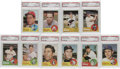 Baseball Cards:Lots, 1963 Topps Baseball PSA Mint 9 Lot of 10. The full-bleed colorblock at the bottom of the 1963 Topps cards, although highly...