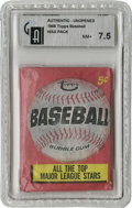 Baseball Collectibles:Others, 1966 Topps Baseball First Series Wax Pack GAI NM+ 7.5. Card numbers 1 through 109 are possible in this high-grade wax, so t...