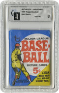 Baseball Collectibles:Others, 1969 Topps Baseball Wax Pack, GAI NM-MT 8. Ultra-clean offeringshows an absence of wear and a tight seal on verso, ensurin...