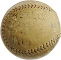 Baseball Collectibles:Balls, 1919 World Series Game Used Baseball. Monumentally important orbsaw active duty during the most historically significant O...