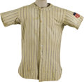 """Baseball Collectibles:Uniforms, 1942 Phil Rizzuto Game Worn Jersey with Health Patch. Worth a smallfortune in its own right, the """"Health"""" patch on the lef..."""
