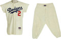 Baseball Collectibles:Uniforms, 1956 Randy Jackson Game Worn Uniform. The glorious Brooklyn Dodgershome flannel, coveted by thousands, owned by few. Here...