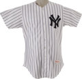 Baseball Collectibles:Uniforms, 1990 Joe DiMaggio Old Timers Day Worn Jersey. Returning to the samehallowed ground that he first claimed as his own fifty-...