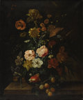Old Master:Other, FRANZ XAVER PIELER (Austrian 1879-1952). Floral Still Life.Oil on canvas. 30.5in. x 26in.. Signed lower right. ...