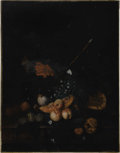 Old Master:Dutch, JACOB van HUYSUM (Dutch 1686-1740). Still Life with Fruit.Oil on canvas. 35.75in. x 28in.. Signed lower left. A very ol...