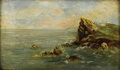 19th Century European:Landscape, EUROPEAN SCHOOL (19th Century). Seascape, 1888. Oil onpanel. 9.5in. x 16in.. Signed illegibly lower left. ...