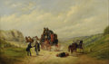 19th Century European:Sporting, JOHN CHARLES MAGGS (British 1819-1895). The Crossroads. Oilon canvas. 16in. x 27in.. Signed lower left. ...