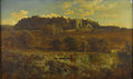 19th Century European:Landscape, EDMUND JOHN NIEMANN (British 1813-1876). Landscape withCastle. Oil on canvas. 29.5in. x 50in.. Signed lower left. ...