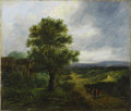 19th Century European:Landscape, PATRICK NASMYTH (Scottish 1787-1831). Landscape, 1816. Oilon panel. 10in. x 12in.. Signed and dated lower right. Proven...