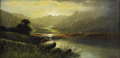19th Century European:Landscape, CHARLES LESLIE (British 1835-1890). Landscape. Oil oncanvas. 12in. x 24in.. Signed lower right. ...