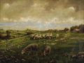 19th Century European:Barbizon, HOWARD HULSMAN (American 20th Century). Pastoral Scene,1909. Oil on canvas. 18in. x 24in.. Signed and dated lower cente...