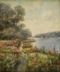 Impressionism & Modernism:European Impressionism, SIR ROBIN PHILLIPSON (Scottish 1916-1992). Spring Lake. Oilon canvas. 24in. x 20in.. Signed lower left. ...