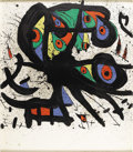Prints:European Modern, JOAN MIRÓ (Spanish 1893-1983). Untitled. Lithograph onpaper. 35in. x 31in.. Signed lower right. Edition: 21/75. ...