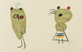 Prints:European Modern, JOAN MIRÓ (American 1893-1983). Untitiled. Color lithograph.12.75in. x 20in.. Signed lower right. Edition: 25/120. ...