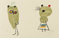 JOAN MIRÓ (American 1893-1983) Untitiled Color lithograph 12.75in. x 20in. Signed lower right Edition: 25/120