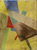 Impressionism & Modernism:Abstraction, IVAN KLIUN (Russian 1870-1942). Abstract Composition, 1921.Watercolor on heavy board. 11.25in. x 8.25in.. Signed (in Cy...