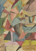 Impressionism & Modernism:Abstraction, ALEXANDER RODCHENKO (Russian 1891 - 1956). AbstractComposition. Watercolor on paper. 11in. x 8in.. Signed lowerright. ...