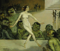 DANIEL SABATER Y SALABERT (Spanish 1888-1951) Viva tu Madre, 1931 Oil on canvas 18.5in. x 22in. Signed and dated low