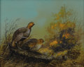American:Sporting, TED BLAYLOCK (American b. 1946). Quail. Oil on masonite.16in. x 20in.. Signed lower right. ...