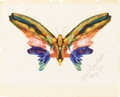 American:Hudson River School, ALBERT BIERSTADT (American 1830-1902). Butterfly, 1895.Watercolor and gouache on paper. 8in. x 10in.. Signed and dated ...