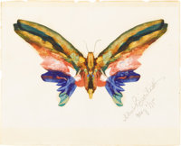 ALBERT BIERSTADT (American 1830-1902) Butterfly, 1895 Watercolor and gouache on paper 8in. x 10in. Signed and dated