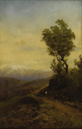 American:Western, CARL von PERBANDT (American 1832-1911). Mountain Road. Oilon canvas. 29.5in. x 19in.. Signed lower right. ...