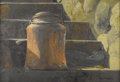 American:Western, RAY SWANSON (American 1937-2004). The Milk Can, 1968.Acrylic on board. 15in. x 22in.. Signed and dated lower right. On...