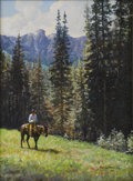 American:Western, MARTIN GRELLE (American b. 1954). High Country Summer, 1982.Acrylic on canvas. 9in. x 12in.. Signed lower right. ...