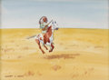 American:Western, LEONARD HOWARD REEDY (American 1899-1956). Indian Rider.Watercolor on paper. 8.5in. x 11.5in.. Signed lower left. Pro...