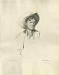 American:Western, WILLIAM HERBERT (BUCK) DUNTON (American 1878-1936). Texas BroncTwister. Lithograph on paper. 21.25in. x 16in.. Signed a...